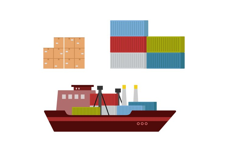 Delivery of goods by container ship example image 1