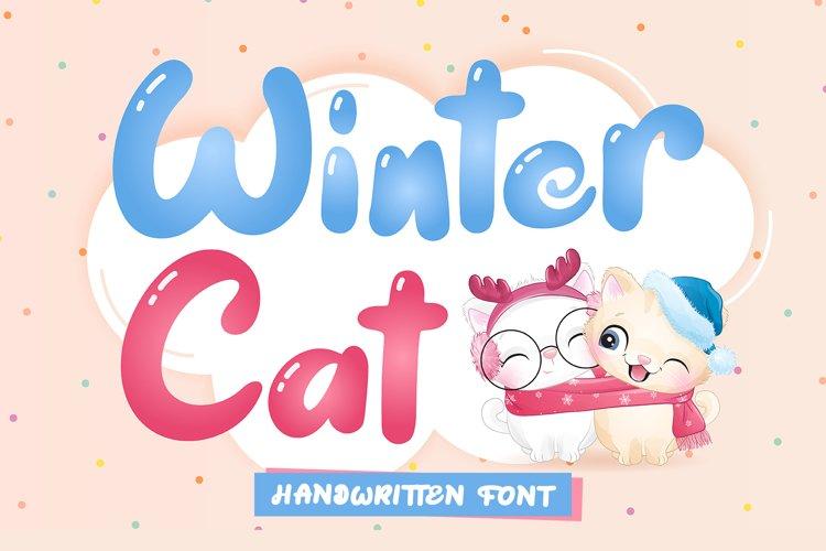 Winter Cat - Handwritten Font example image 1