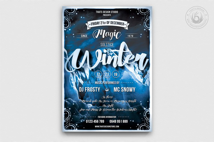 Winter Season Flyer Template V1 example image 1