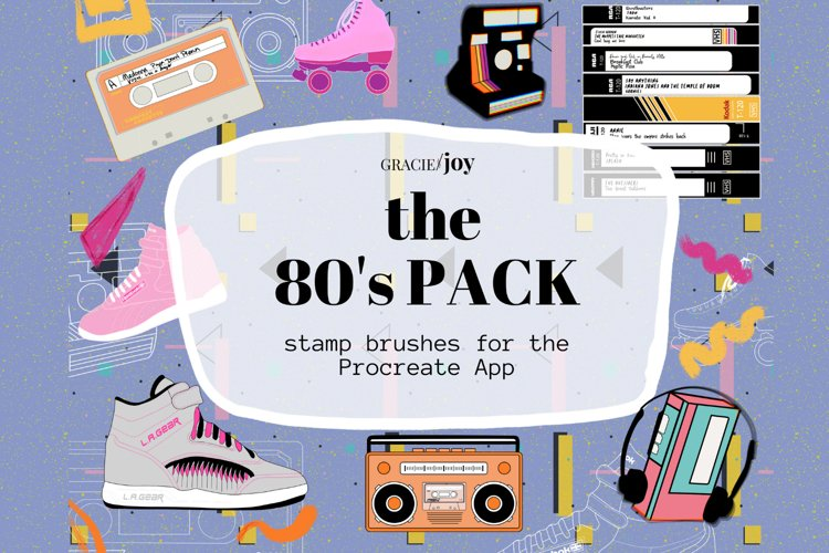The 80s Pack Stamp Brushes for the Procreate App