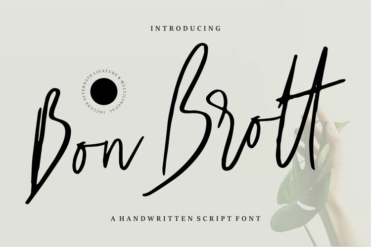 Bon Brott - A Handwritten Script Font example image 1