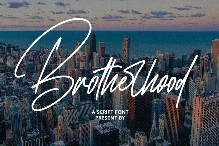 Web Font Brotherhood - Script Font example image 1