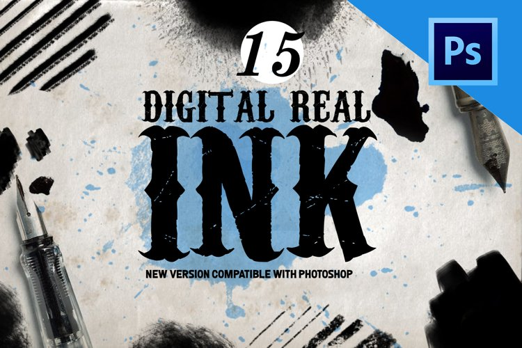 Real Ink Brushes for Photoshop example image 1
