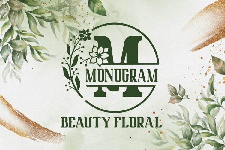 Beauty Floral Monogram example image 1