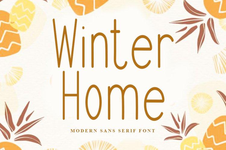 Winter Home | Modern Sans Serif Font example image 1