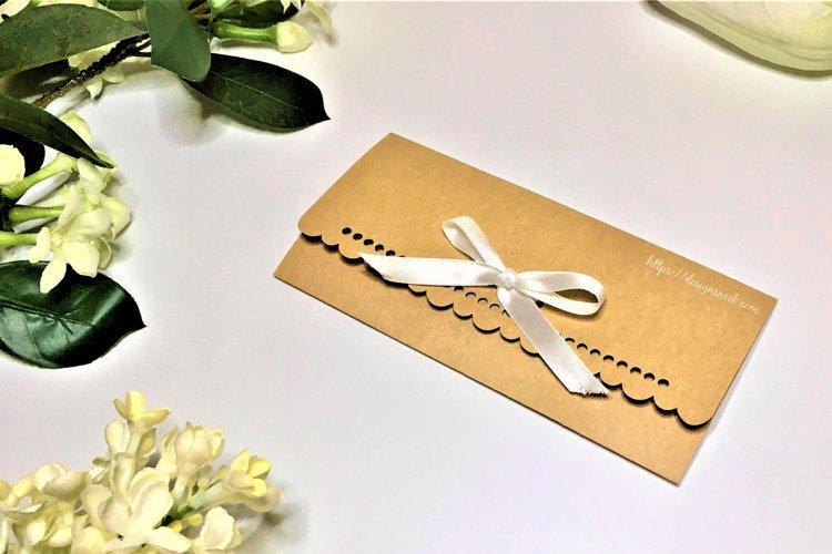 Cash Envelope with Ribbon Holes - SVG, DXF, PDF file formats