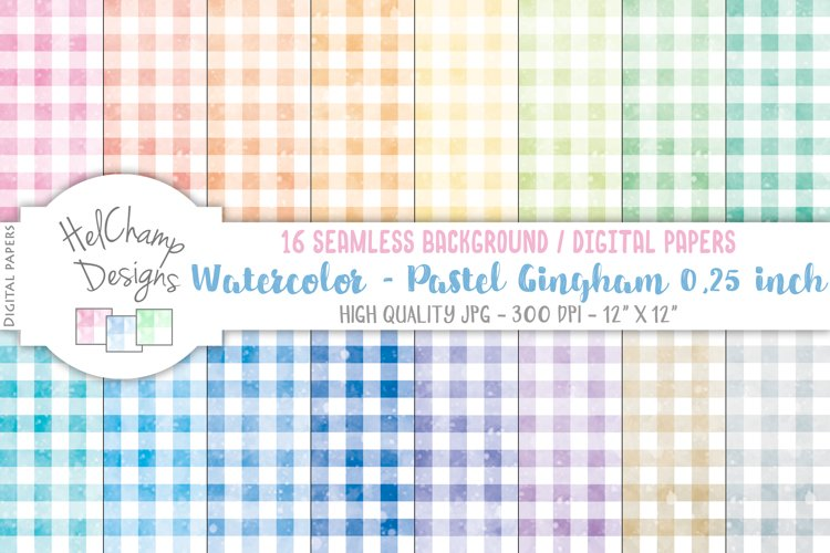 16 seamless Papers - Pastel Gingham 0,25 inch - HC112