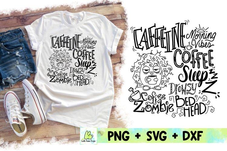Coffee and Caffeine Zombie Mom SVG design example image 1