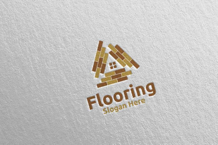 Flooring Parquet Wooden Logo 25 example image 1