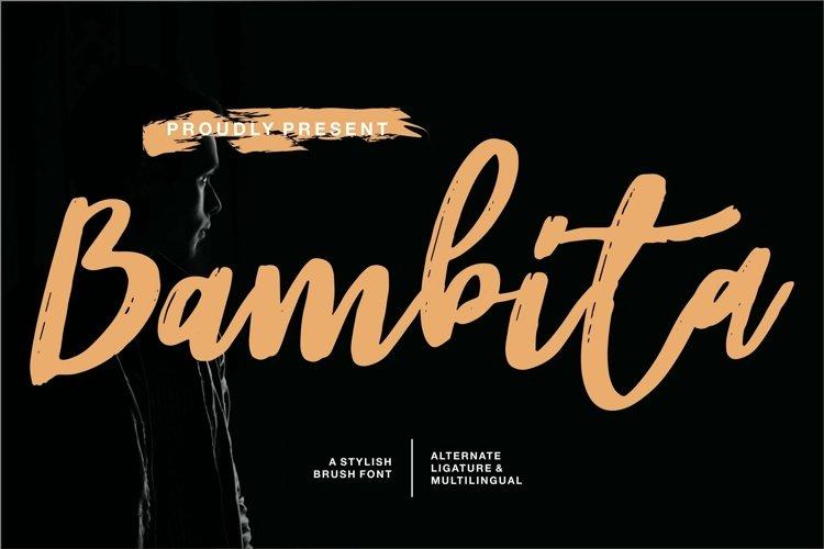 Web Font Bambita - A Stylish Brush Font example image 1
