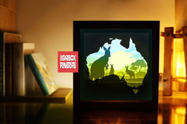129 Kaola, 3d paper cut lightbox template example image 1