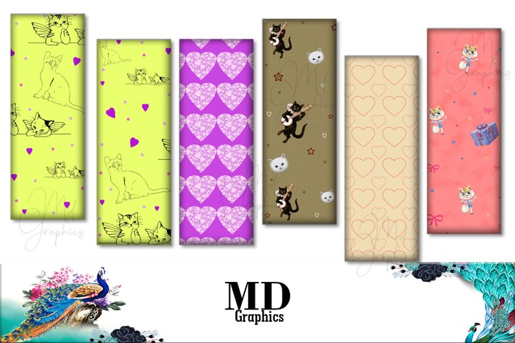 Cats Images, Cats Digital Bookmarks, Cats Printable, LOVE example image 1