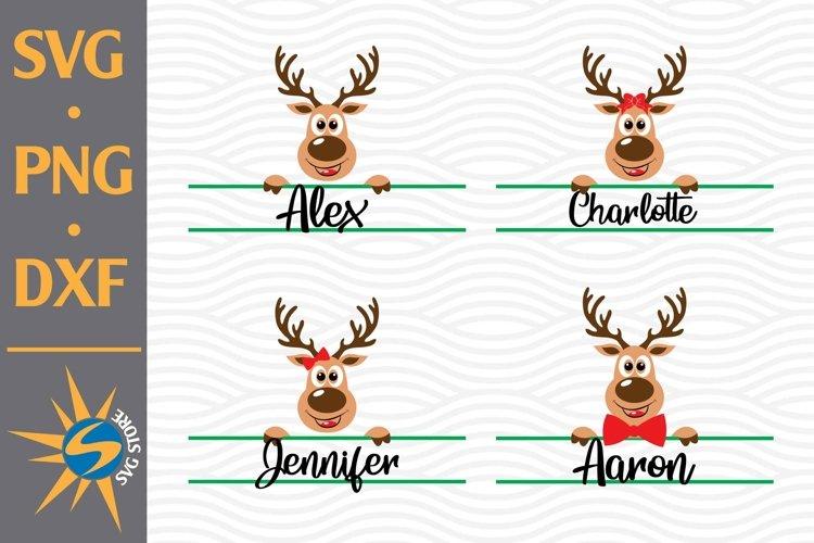 Split Reindeer Christmas SVG, PNG, DXF Digital Files Include