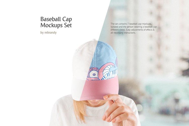 Baseball Cap Mockups Set example image 1