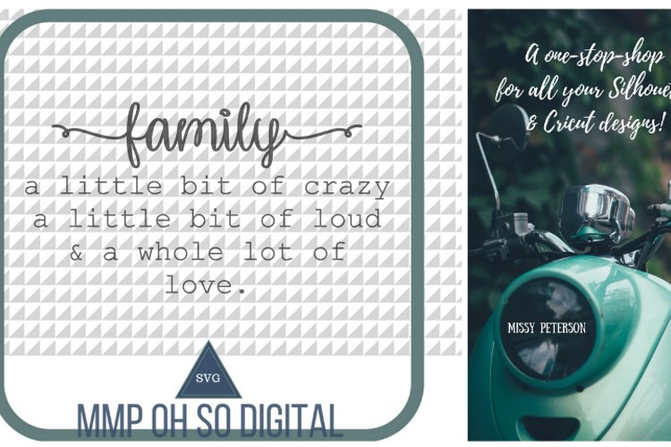 Family Quote SVG, a little bit of crazy SVG, a little bit of loud SVG, a whole lot of love svg, farmhouse decor svg, vector svg example image 1