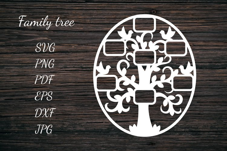 Family Tree SVG. Tree Papercut. Frame for Photos. Family SVG
