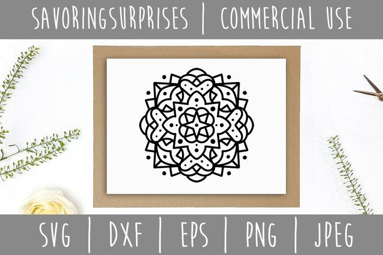 Mandala SVG, DXF, EPS, PNG JPEG example 2