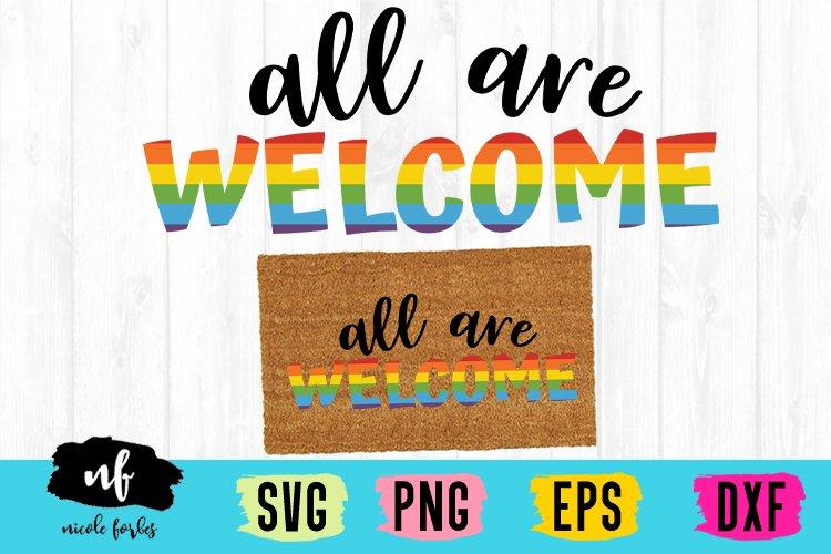 Gay Pride Door Mat SVG Cut File