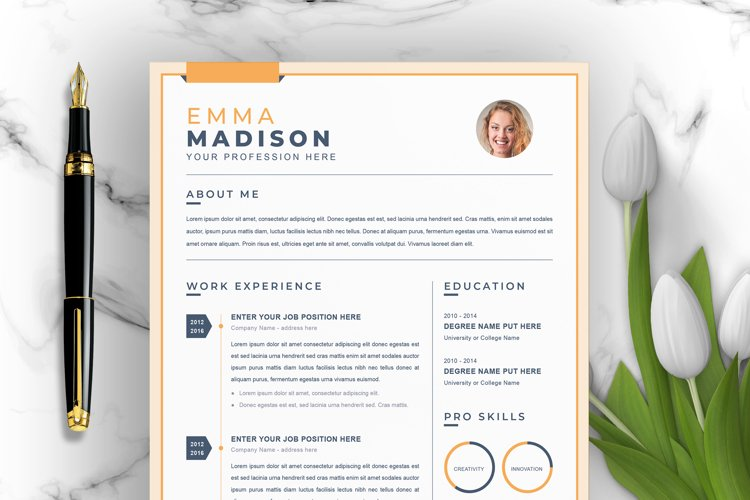 Apple Pages Resume / CV Template   Curriculum Vitae example image 1