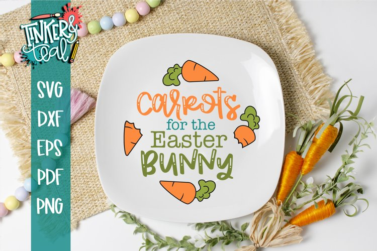 Carrots Plate SVG / Easter SVG / Easter Plate SVG / Cut file example image 1