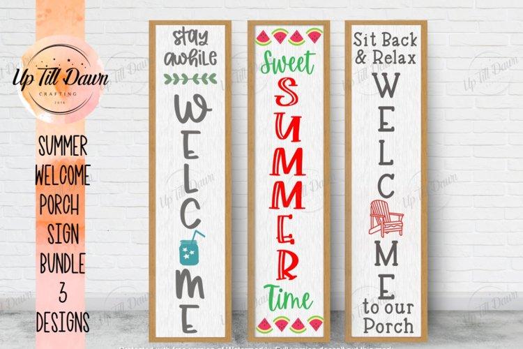 Summer Welcome Porch Sign SVG Bundle example image 1
