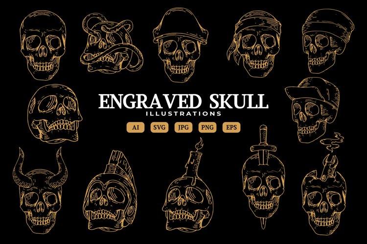 Engraved Skull Illustrations