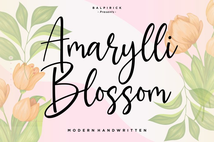 Amarylli Blossom Modern Handwritten Font example image 1