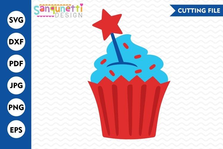 4th of July cupcake SVG, cupcake svg, USA svg, Summer svg