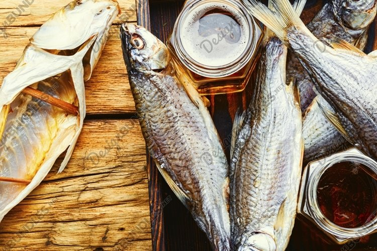 salty dry sea fish for beer
