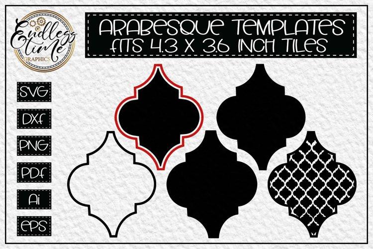 Arabesque Tile SVG Bundle - 5 Blank Arabesque Templates
