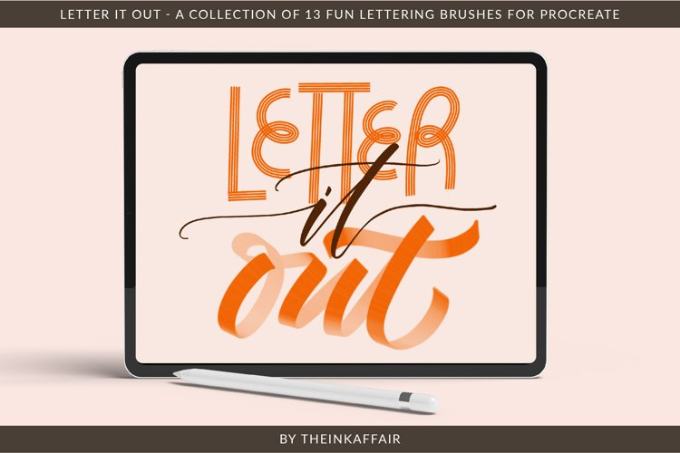 Letter it out, lettering procreate brushes bundle