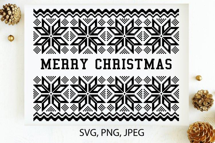 Merry Christmas SVG, Christmas card template PNG, JPG example image 1