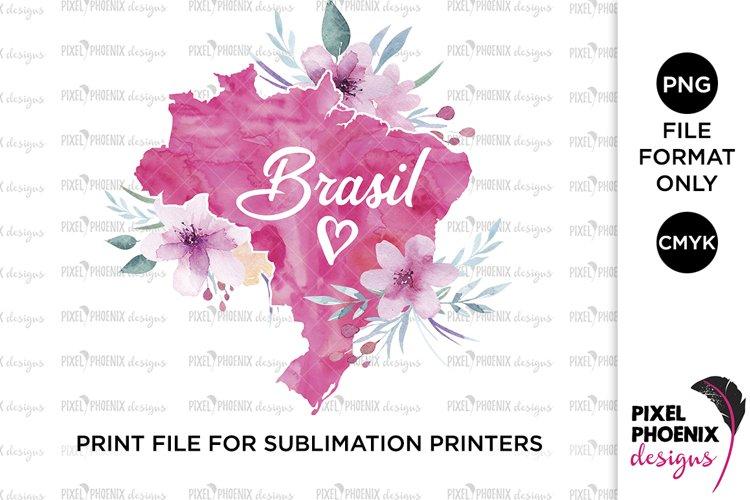 Brasil Sublimation Design, Sublimation file example image 1