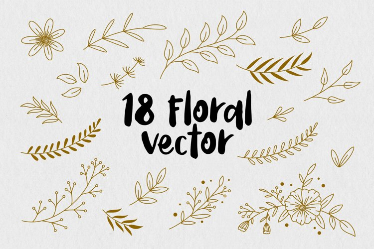 Floral Vector Pack example image 1