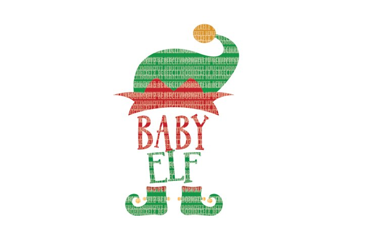 Christmas SVG File, Baby Elf SVG Files for Cameo and Cricut Design Space Iron on Decal Printable Transfer DXF Commercial Use example image 1