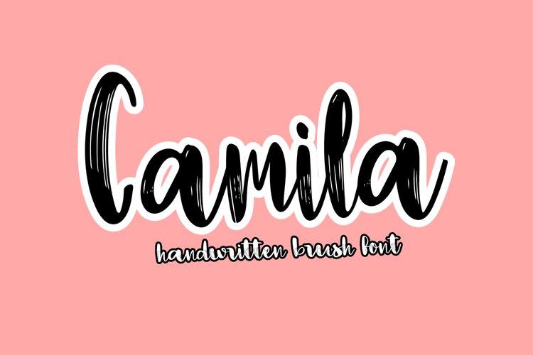 Camila - Handwritten Script Brush Font example image 1