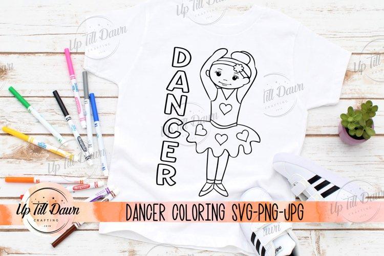 Dancer Coloring SVG, Dancer SVG, Ballerina SVG