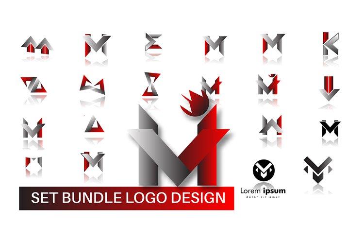 set of logo design vector bundle. modern logo concept. Icon example image 1