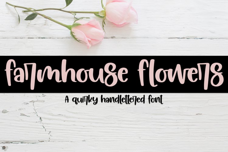 Farmhouse Flowers - A Quirky Hand-Lettered Font example image 1