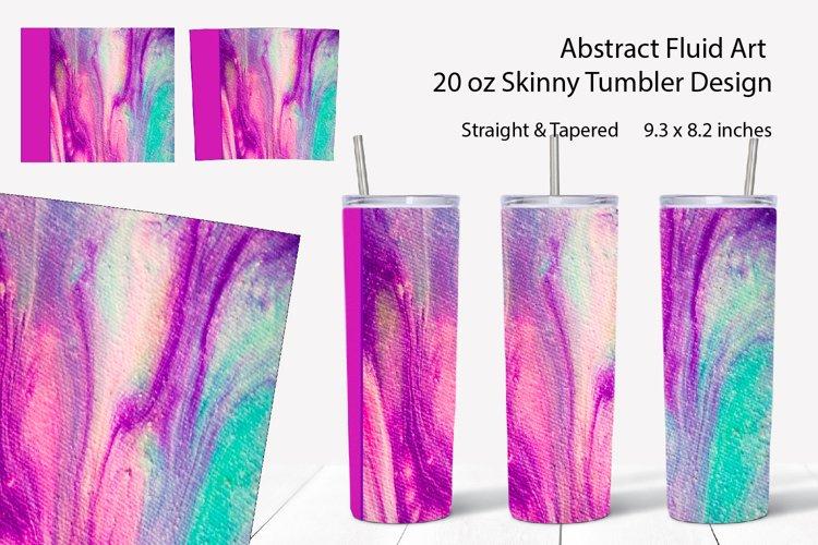 20oz Skinny Tumbler sublimation design Marble fluid art