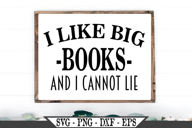 I Like Big Books and I Cannot Lie SVG example image 1