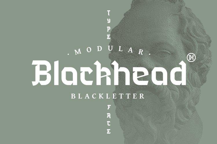 Blackhead Typeface | Font example image 1