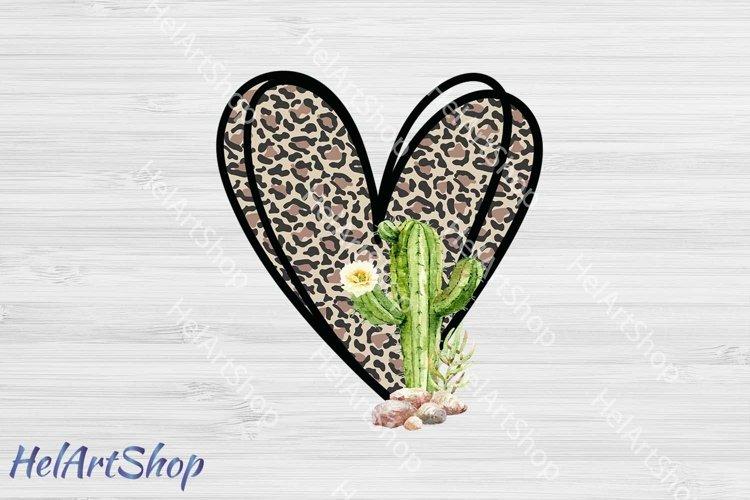 Leopard Cactus png, Sublimation PNG, Leopard print png example image 1