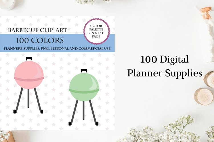 100 Barbeque Clipart, Barbecue illustrations, BBQ planner