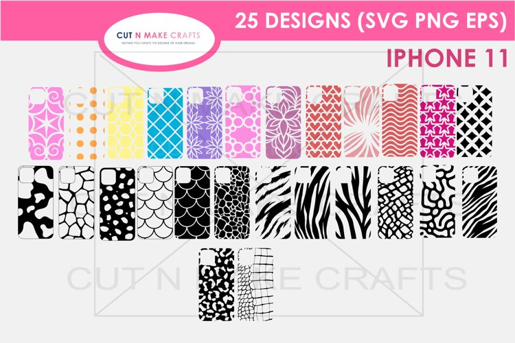 25 iPhone 11 SVG Designs| Phone Case Decals example image 1