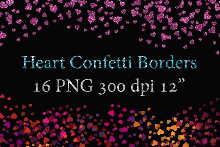 Confetti Heart Borders clipart example image 1