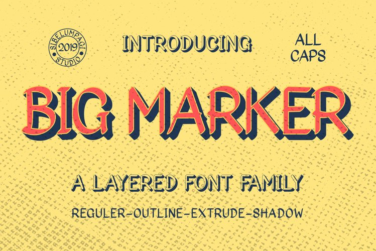 Big Marker Font Family example image 1