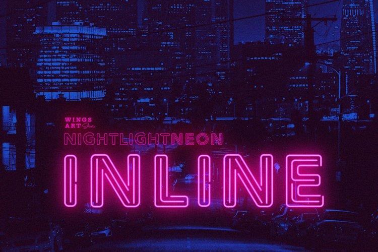 Night Light Neon Font - Inline example image 1
