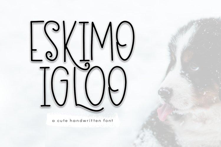 Eskimo Igloo - A Fun & Quirky Font example image 1