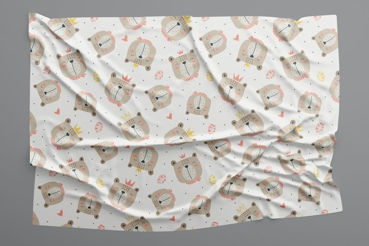 Cute bear seamless pattern example image 1